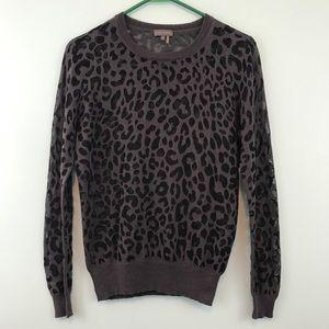 Vince Camuto Animal Print Sweater